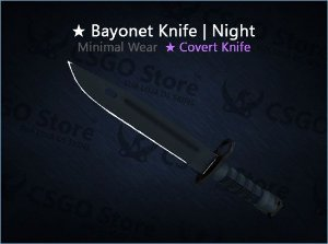★ Bayonet | Night (Minimal Wear)