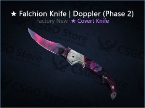 ★ Falchion Knife | Doppler Phase 2 (Factory New)