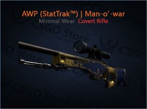 AWP (StatTrak™) | Man-o'-war (Minimal Wear)