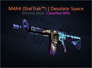 M4A4 (StatTrak™) | Desolate Space (Minimal Wear)