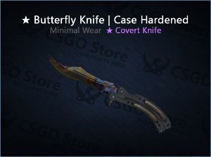 ★ Butterfly Knife | Case Hardened (Minimal Wear)