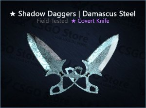★ Shadow Daggers | Damascus Steel (Field-Tested)