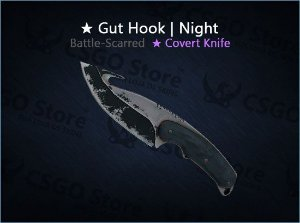 ★ Gut Knife | Night (Battle-Scarred)