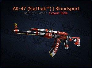 AK-47 (StatTrak™) | Bloodsport (Minimal Wear)