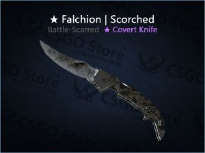 ★ Falchion Knife | Scorched (Battle-Scarred)