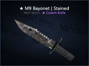 ★ M9 Bayonet | Stained (Well-Worn)