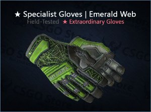 ★ Specialist Gloves | Emerald Web (Field-Tested)