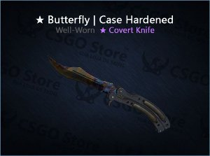★ Butterfly Knife | Case Hardened (Well-Worn)