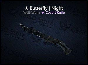 ★ Butterfly Knife | Night (Well-Worn)