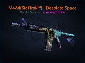 M4A4 (StatTrak™) | Desolate Space (Battle-Scarred)