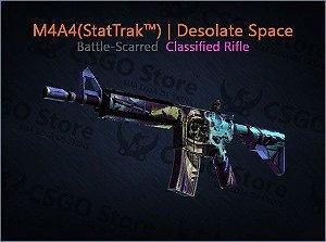 M4A4 (StatTrak™) | Desolate Space (Battle-Scarred)