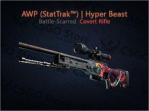 AWP (StatTrak™) | Hyper Beast (Battle-Scarred)