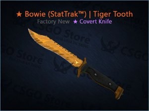 ★ Bowie Knife (StatTrak™) | Tiger Tooth (Factory New)