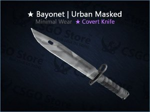 ★ Bayonet | Urban Masked (Minimal Wear)