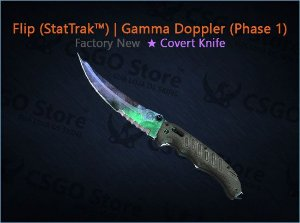 ★ Flip Knife (★ StatTrak™) | Gamma Doppler Phase 1 (Factory New)