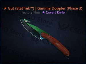 ★ Gut Knife (StatTrak™) | Gamma Doppler Phase 3 (Factory New)