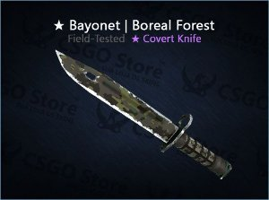 ★ Bayonet | Boreal Forest (Field-Tested)