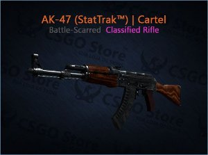 AK-47 (StatTrak™) | Cartel (Battle-Scarred)