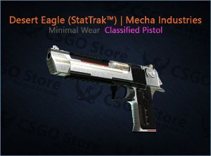 Desert Eagle (StatTrak™) | Mecha Industries (Minimal Wear)