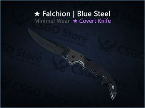 ★ Falchion Knife | Blue Steel (Minimal Wear)