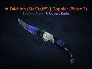 ★ Falchion Knife (StatTrak™) | Doppler Phase 3 (Factory New)