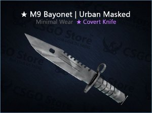 ★ M9 Bayonet | Urban Masked (Minimal Wear)