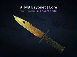 ★ M9 Bayonet | Lore (Well-Worn)