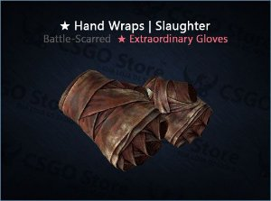 ★ Hand Wraps | Slaughter (Battle-Scarred)