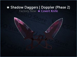 ★ Shadow Daggers | Doppler Phase 2 (Factory New)