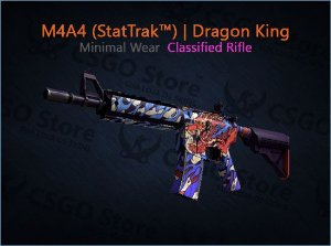M4A4 (StatTrak™) |Dragon King (Minimal Wear)