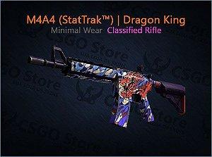 M4A4 (StatTrak™)  Dragon King (Minimal Wear)