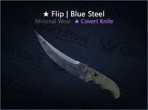 ★ Flip Knife | Blue Steel (Minimal Wear)
