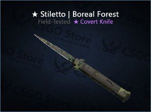★ Stiletto Knife | Boreal Forest (Field-Tested)