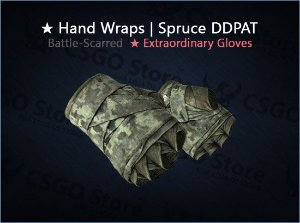 ★ Hand Wraps | Spruce DDPAT (Battle-Scarred)