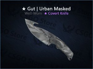 ★ Gut Knife | Urban Masked (Well-Worn)