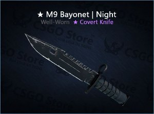 ★ M9 Bayonet   Night (Well-Worn)