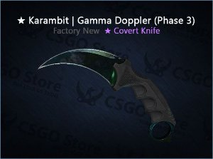 ★ Karambit | Gamma Doppler Phase 3 (Factory New)