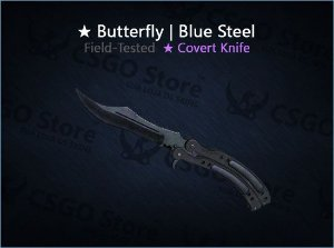 ★ Butterfly Knife | Blue Steel (Field-Tested)