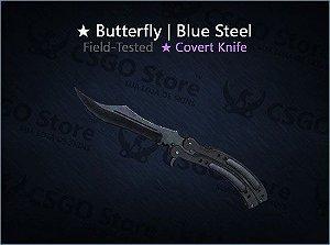 ★ Butterfly Knife | Blue Steel (Field-Tested)