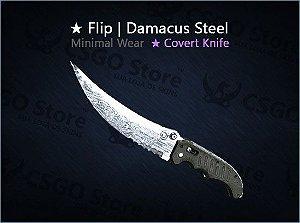 ★ Flip Knife | Damascus Steel (Minimal Wear)