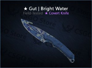★ Gut Knife | Bright Water 0.18 (Field-Tested)
