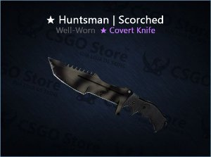 ★ Huntsman Knife | Scorched (Well-Worn)