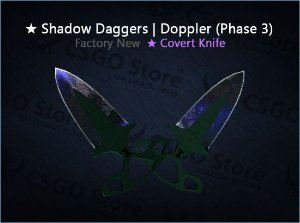 ★ Shadow Daggers | Doppler Phase 3 (Factory New)