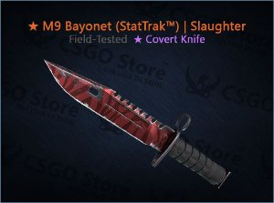 ★ M9 Bayonet (StatTrak™) | Slaughter (Field-Tested)