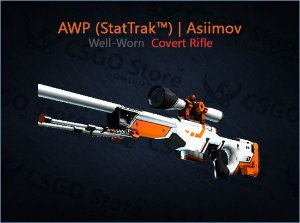 AWP (StatTrak™) | Asiimov (Well-Worn)
