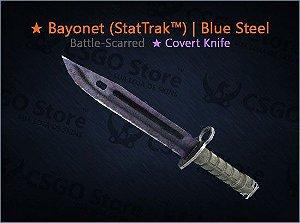 ★ Bayonet (StatTrak™) | Blue Steel (Battle-Scarred)