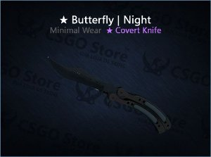 ★ Butterfly Knife | Night (Minimal Wear)