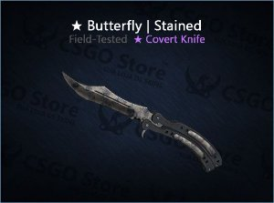 ★ Butterfly Knife | Stained (Field-Tested)