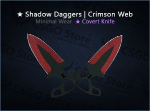 ★ Shadow Daggers | Crimson Web (Minimal Wear)