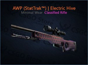 AWP (StatTrak™) | Electric Hive (Minimal Wear)